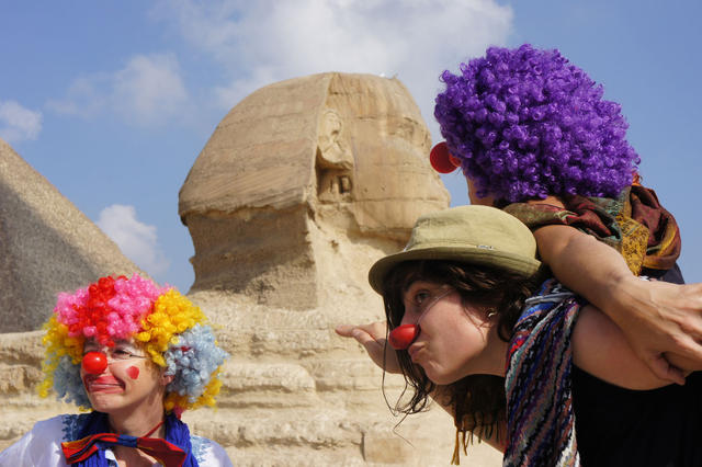 Rebelclowns at the CirCairo festival, Cairo, October 2012. Photo: Karen Eliot